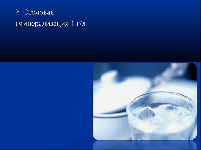Столовая (минерализация 1 г/л