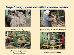 Обработка льна на современном этапе Льняное волокно Подготовка льняного волок