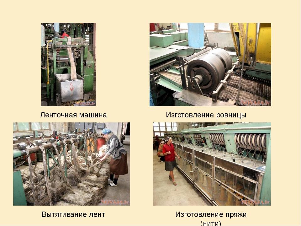 Ленточная машина Изготовление ровницы Вытягивание лент Изготовление пряжи (ни...