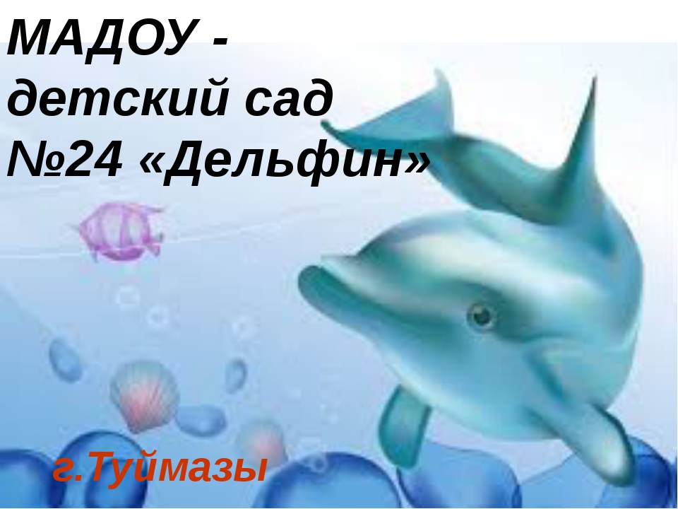 МАДОУ - детский сад №24 «Дельфин» г.Туймазы