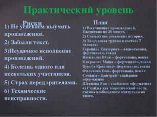 1) Не успеваем выучить произведения. 2) Забыли текст. 3)Неудачное исполнение