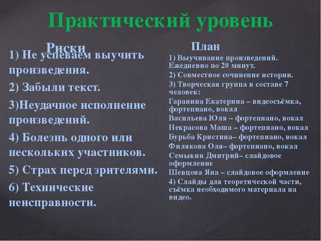 1) Не успеваем выучить произведения. 2) Забыли текст. 3)Неудачное исполнение...