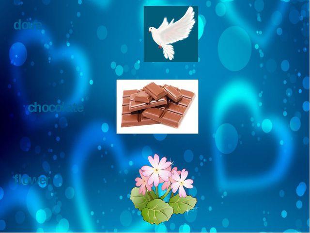 dove chocolate flower