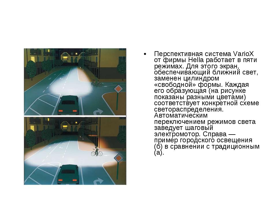 Перспективная система VarioX от фирмы Hella работает в пяти режимах. Для этог...