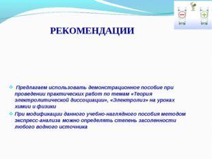 РЕКОМЕНДАЦИИ Предлагаем использовать демонстрационное пособие при проведении