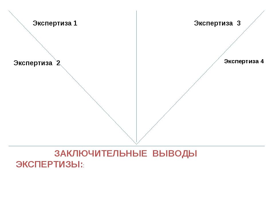 ЗАКЛЮЧИТЕЛЬНЫЕ ВЫВОДЫ ЭКСПЕРТИЗЫ:: Экспертиза 2 Экспертиза 1 Экспертиза 3 Эк...