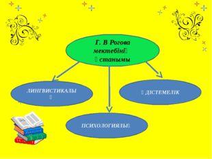 Г. В Рогова мектебінің ұстанымы ЛИНГВИСТИКАЛЫҚ ПСИХОЛОГИЯЛЫҚ ӘДІСТЕМЕЛІК