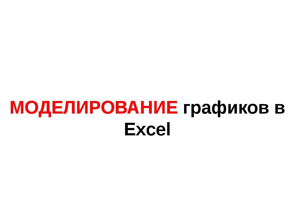 МОДЕЛИРОВАНИЕ графиков в Excel
