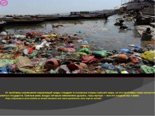 От проблемы загрязнения окружающей среды страдают в основном страны третьего