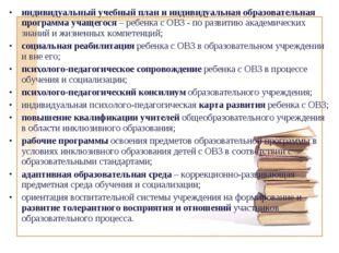 индивидуальный учебный план и индивидуальная образовательная программа учащег
