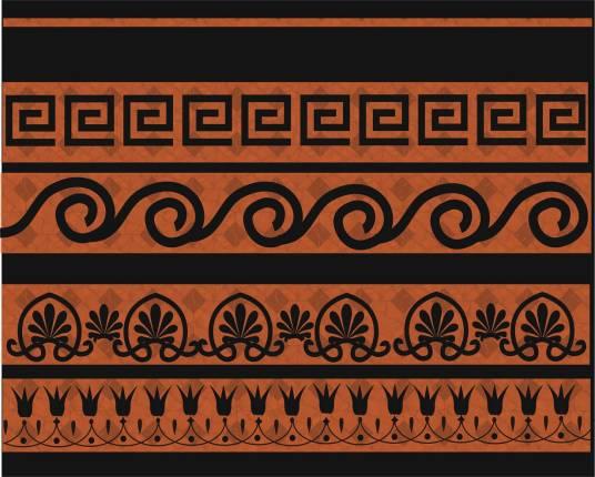 Меандр Орнамент волны Пальметта Орнамент бутонов лотоса - Картинка 14907/41