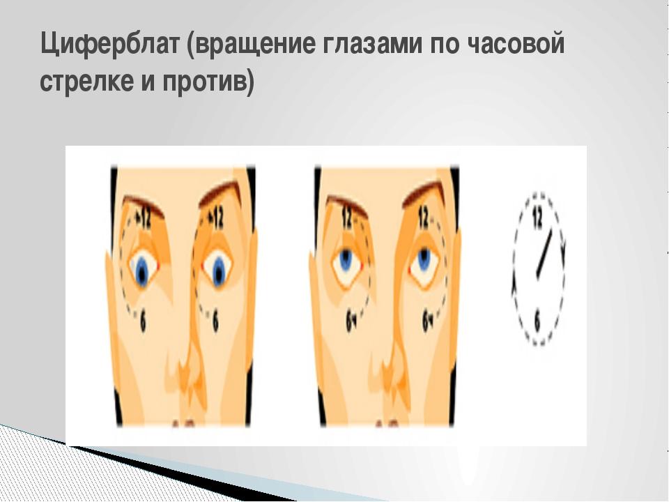 Циферблат (вращение глазами по часовой стрелке и против)
