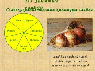 Хлеб был главной пищей славян. Зерно называли житом (от слова «жить»).  Се