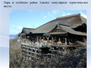 Парк и особенно район Хаконэ- популярное туристическое место.
