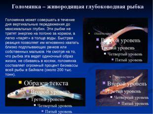 Голомянка – живородящая глубоководная рыбка Голомянка может совершать в течен