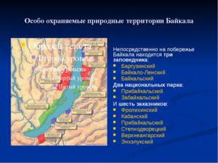 Особо охраняемые природные территории Байкала Непосредственно на побережье Ба