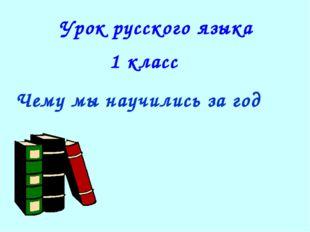 Урок русского языка 1 класс Чему мы научились за год