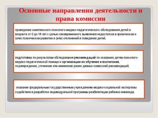 Основные направления деятельности и права комиссии проведение комплексного п