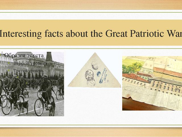 Interesting facts about the Great Patriotic War