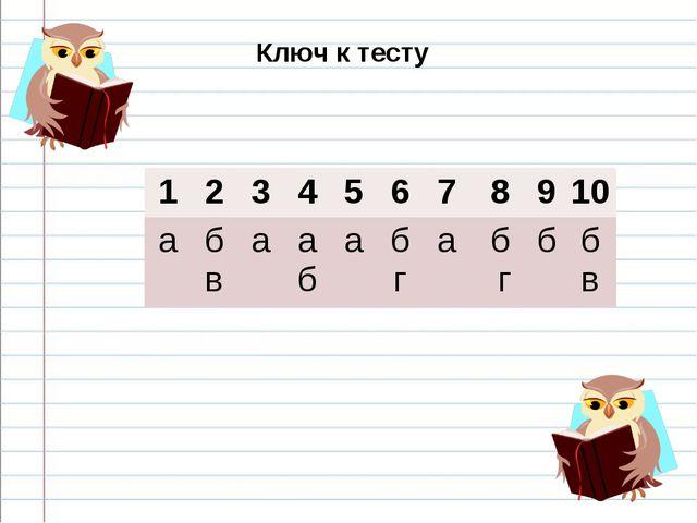 Ключ к тесту 12345678910 аб ваа баб габ гбб в