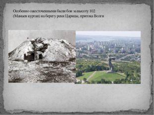 1942 год 2013 год Особенно ожесточенными были бои за высоту 102 (Мамаев кург