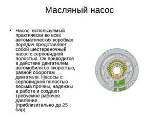 Масляный насос Насос используемый практически во всех автоматических коробках