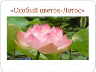 «Особый цветок-Лотос»