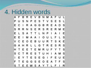 4. Hidden words