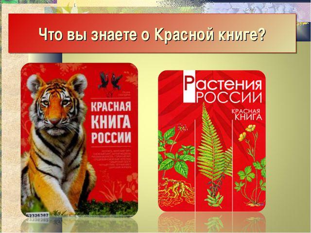 Что вы знаете о Красной книге?