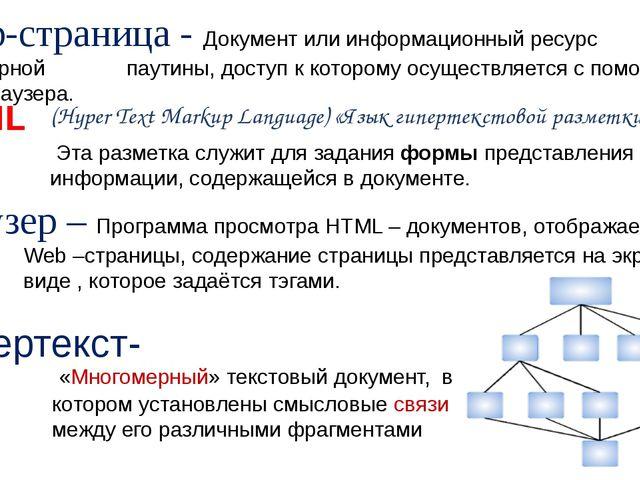HTML (Hyper Text Markup Language) «Язык гипертекстовой разметки» «Многомерны...