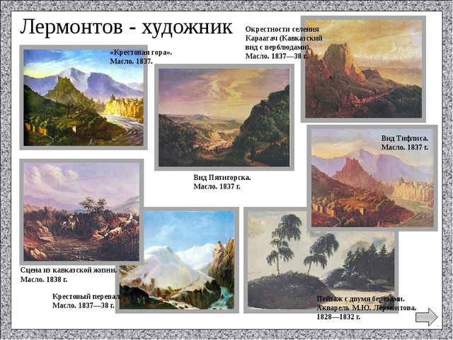 ► Какое произведение сделало имя Лермонтова знаменитым? а) «Парус»; б) «Геро...
