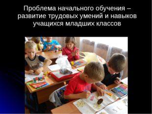Проблема начального обучения – развитие трудовых умений и навыков учащихся м