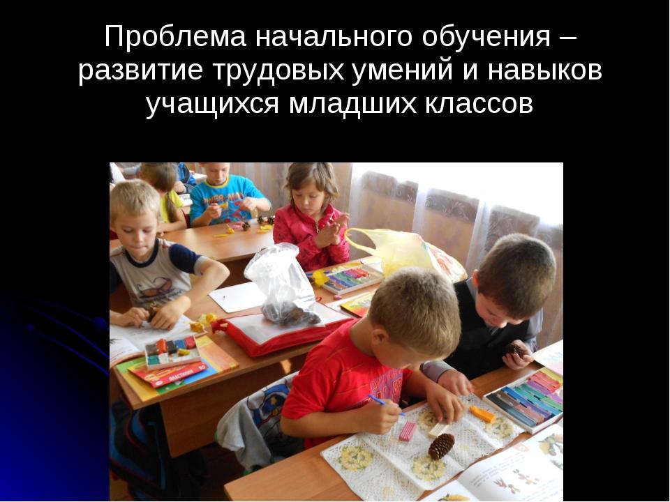 Проблема начального обучения – развитие трудовых умений и навыков учащихся м...