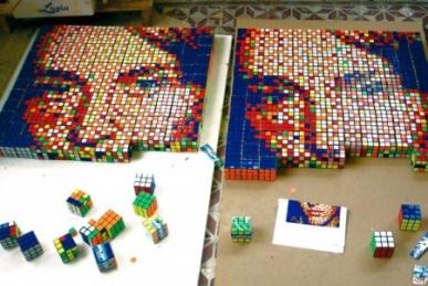 Кубик-рубик - картины, кубики, предметы
