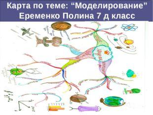 "Карта по теме: ""Моделирование"" Еременко Полина 7 д класс www.stimul.biz"