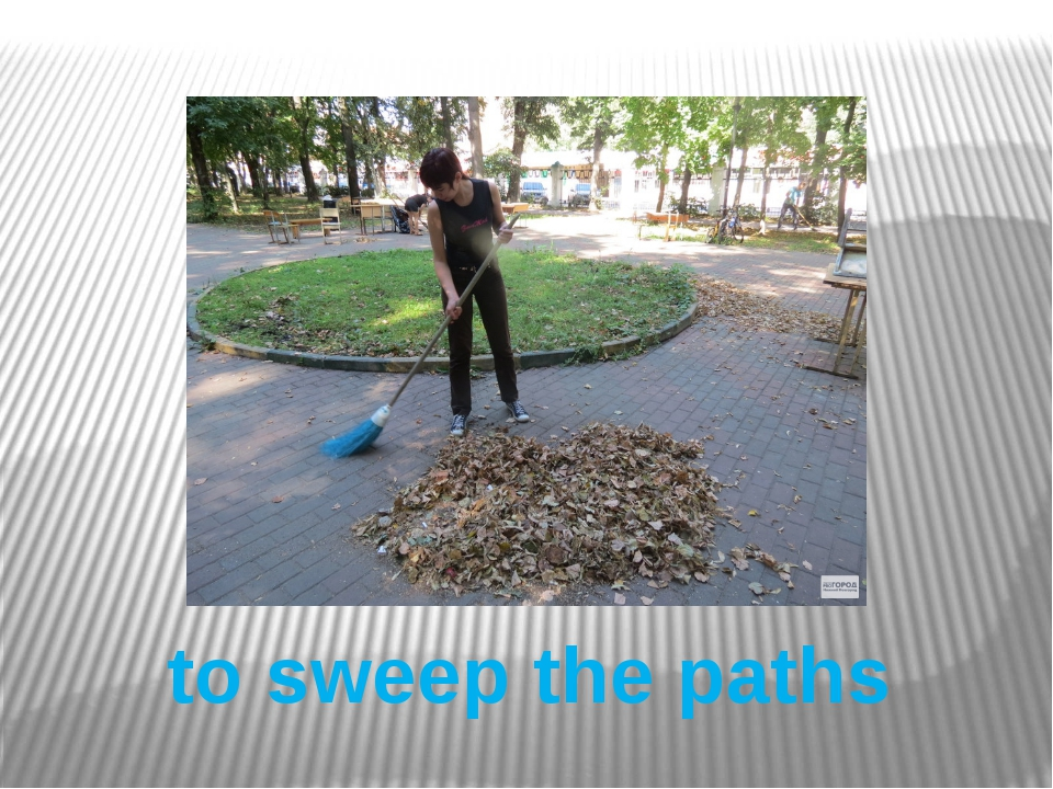 to sweep the paths