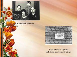 А.В. Самочкин гаиләсе белән Горький шәһәрендә А.В.Самочкин яшәгән йорт