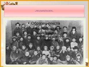 Учащиеся 7 класса семилетней школы с.Агафоновка. Коля Решетников крайний спр