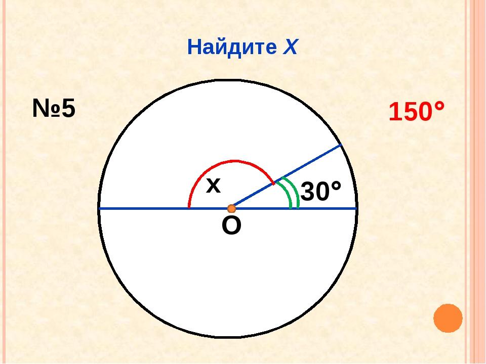 Найдите Х О x 30 №5 150