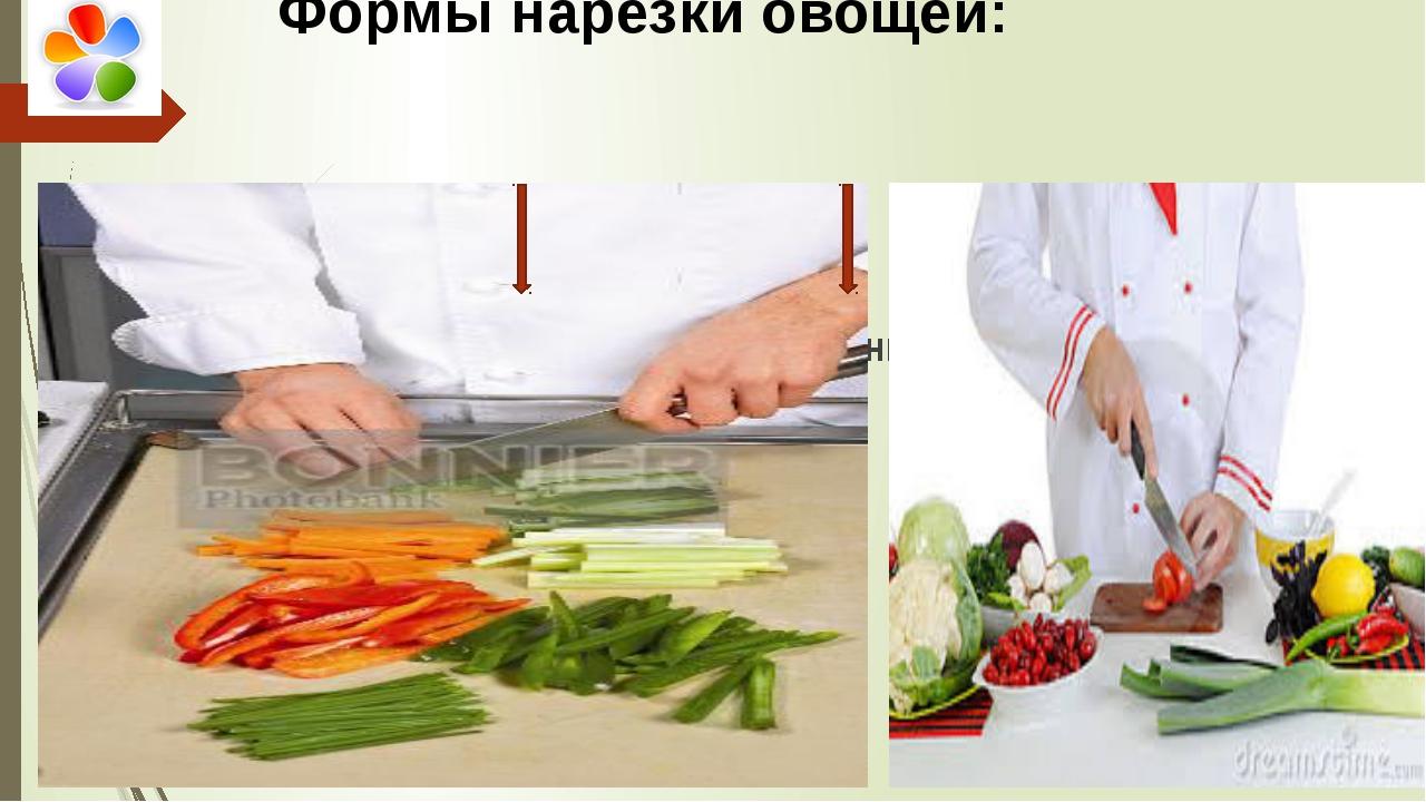 Простые формы Сложные формы Формы нарезки овощей: