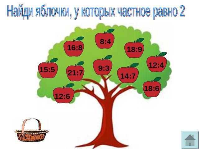 15:5 16:8 21:7 12:6 8:4 9:3 14:7 18:9 12:4 18:6
