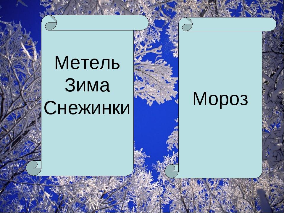 Метель Зима Снежинки Мороз