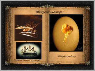 Микроминиатюра Подкованная блоха Корабль-часть «микромира» «Стрекоза»