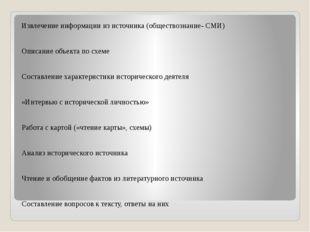 Извлечение информации из источника (обществознание- СМИ)  Описание объекта
