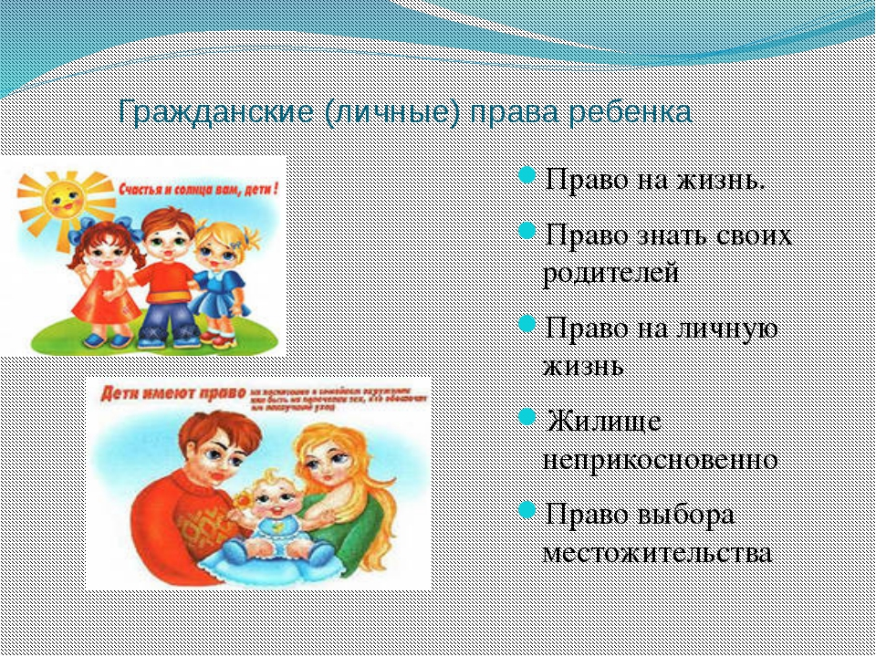 Права ребенка гражданские
