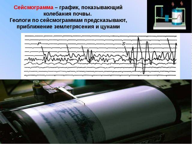 Сейсмограмма – график, показывающий колебания почвы. Геологи по сейсмограммам...