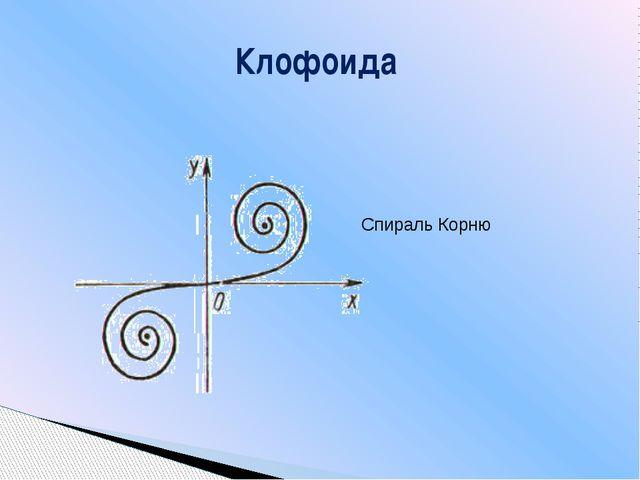 Клофоида Спираль Корню