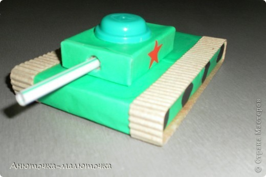 Как сделать танк из спичечных коробков