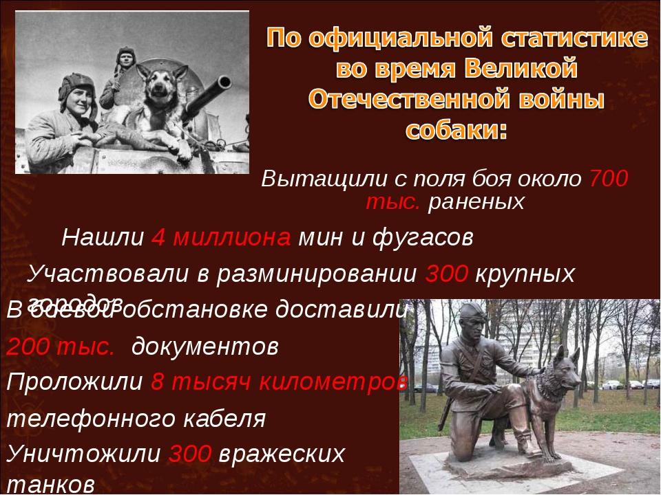 Вытащили с поля боя около 700 тыс. раненых Нашли 4 миллиона мин и фугасов Уча...