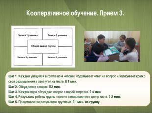 Кооперативное обучение. Прием 3. Шаг 1. Каждый учащийся в группе из 4 человек